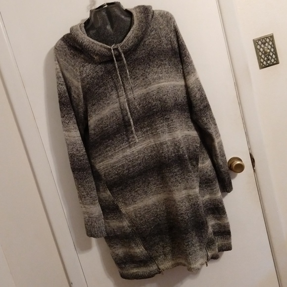Maurices Dresses & Skirts - Maurices Gray Sweater Dress Tunic Wool Blend XXL